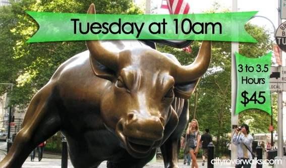 NY's famous Charging Bull near Wall Street