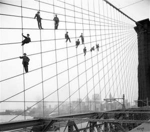Brooklyn Bridge Painters at work