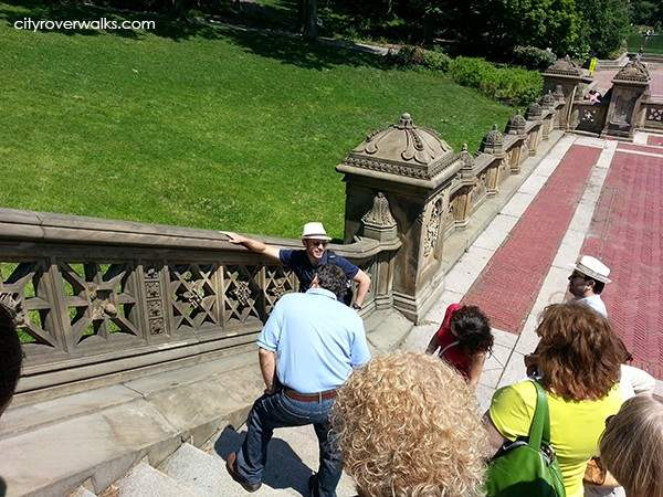 The Winter balustrade in Bethesda Terrace