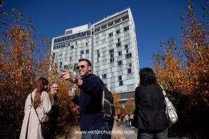 Walking tour of the High Line by the Standard Hotel