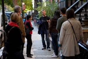 Greenwich Village brownstones on guided walking tour