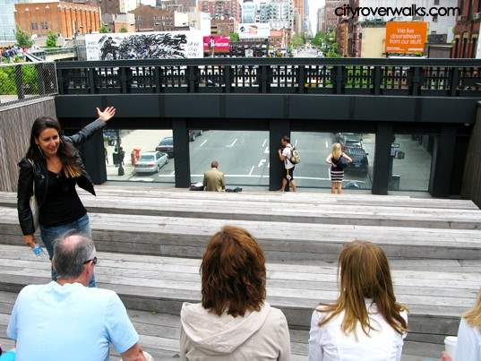 Danielle showing off the High Line during Village Sampler walking tour