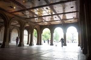 Inside Bethesda Arcade in Central Park