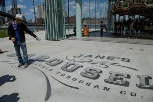 Recently restored Jane's Carousel in Brooklyn Bridge Park