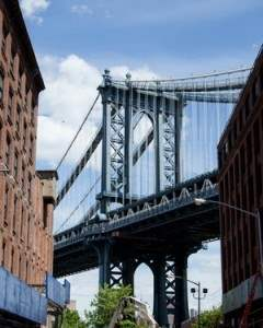 The View of the Manhattan Bridge from Dumbo, Brooklyn