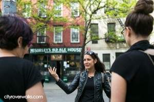 On CityRover's East Village walking tour, one of the fun sites is McSorley's, NY's oldest continuously operating bar