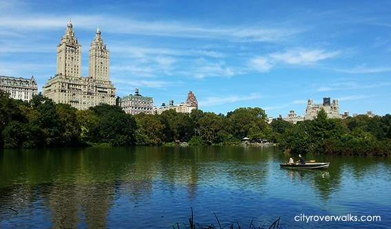 The Lake in Central Park Overlooking Central Park West